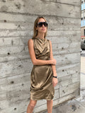 1990/ 2000's Gold Vivienne Westwood Anglomania Dress
