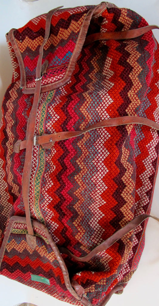 Tribal Hand-Woven Carpet Storage Bag