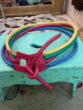 1980s Rainbow Color Leather Cord Belt - SOLD