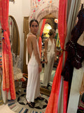 1990's White Crepe Jumpsuit - SOLD