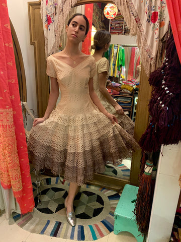 1980's Vivienne Westwood Couture Gold Label Taffeta Dress