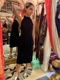 1980's Jean Muir Black Dress with Red Stitching - SOLD