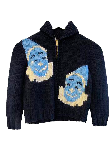 Hand-knit Circus-Themed Sweater - SOLD