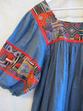 cotton, denim, hippie, patchwork, summer, onesize, vintage, 1960's, 1970's, boho, bohemian,