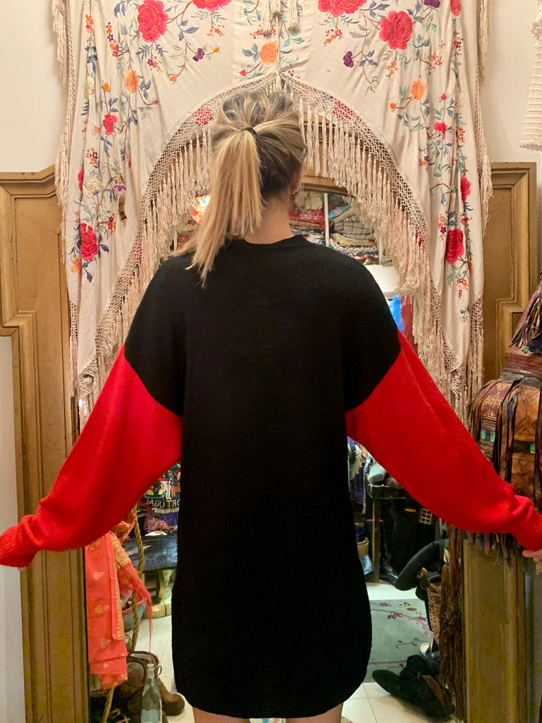 1980's Kansai Embroidered and Appliqué Oversized Sweater