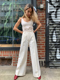 1970's Vintage Wool White Pants by Creation/ Trivera