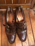 1970s Brown Buckle Loafers