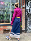 1980s Kansai Knit Nautical Skirt
