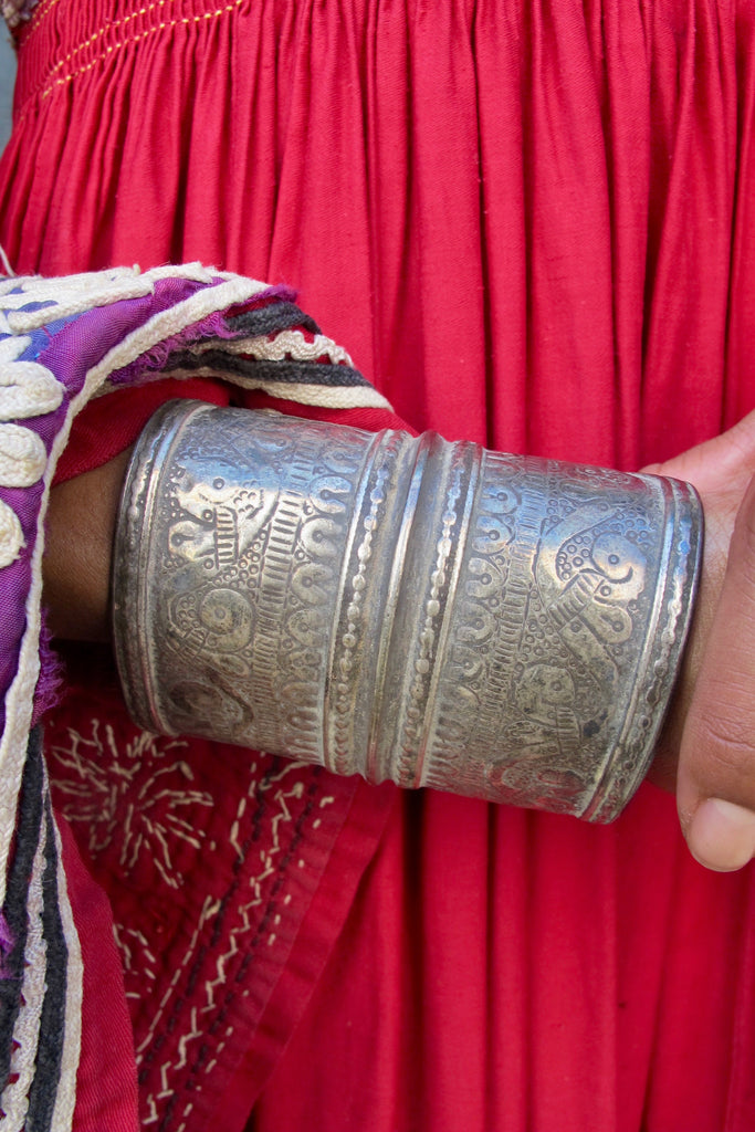 Afghani Silver Engraved Cuff - SOLD