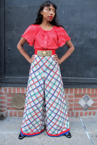 1960's Wave Pattern Tweed Skirt - SOLD