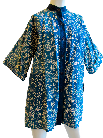 Japanese Indigo Print Cotton Top - SOLD