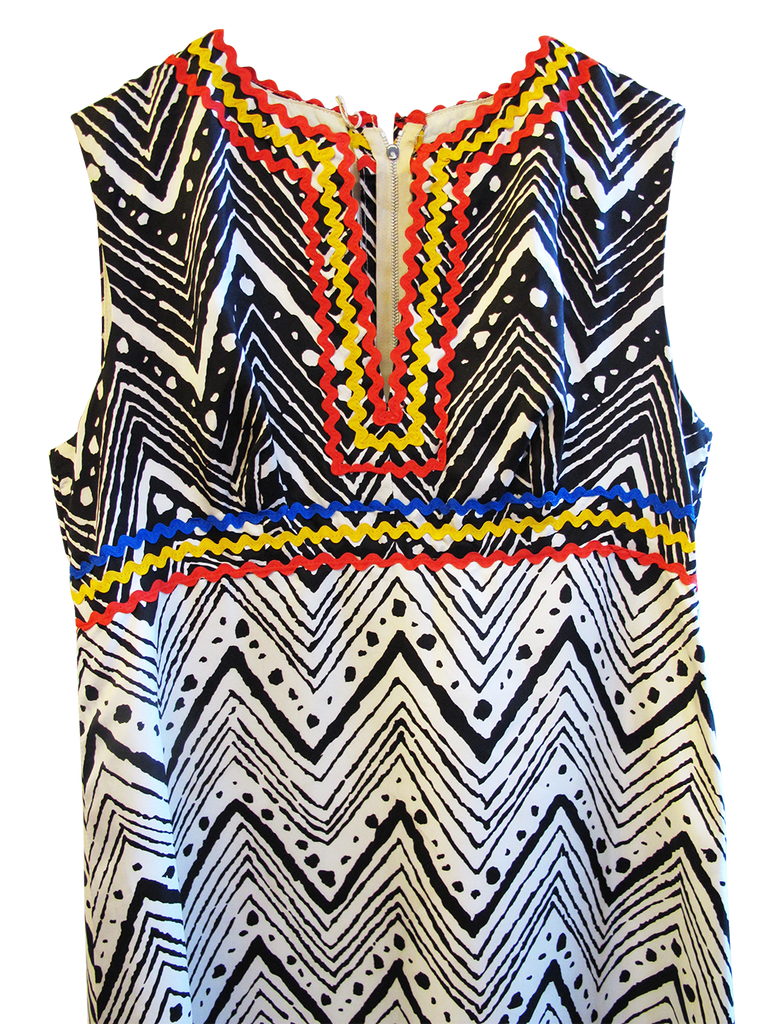 1960's Jean Varon Print Dress