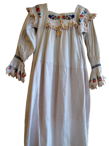 Early 20th Century Eastern European Beaded Embroidered Woven Dress - SOLD