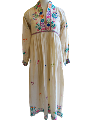 1960's Beaded Chocolate Brown Dress