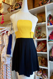 1960's Color Block Mini Dress