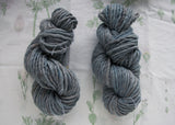 Naturally Dyed Slate Blue Bulky Merino Yarn