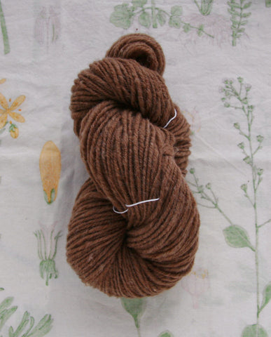Handspun Pumpernickel Toast Yarn
