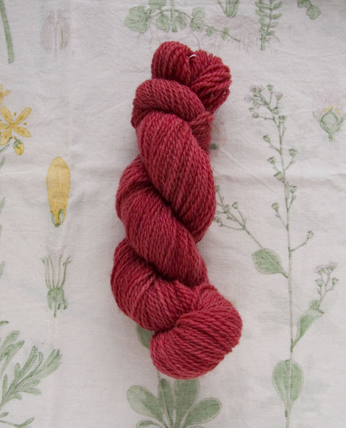 Naturally Dyed Summer Pink Sport Yarn