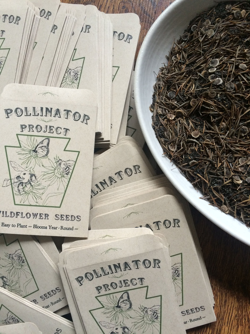 **TRIPLE PACK of Dye Flower Seeds from Pollinator Project and bedhead fiber**