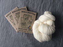 Load image into Gallery viewer, **TRIPLE PACK of Dye Flower Seeds with skein of ready to dye US grown yarn