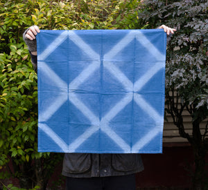 Blue Diamonds Tea Towel