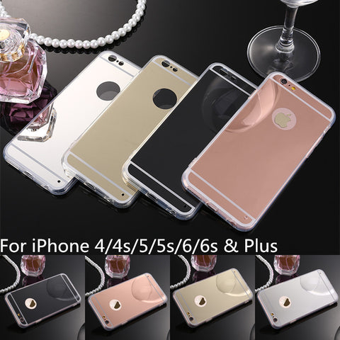 Luxury Mirror Electroplating Soft Clear TPU Cases Back Cover Bags