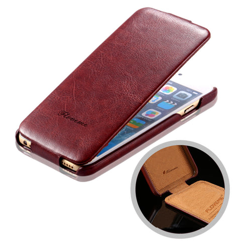 Ultrathin Slim Fashion Logo Retro PU Leather Cover Flip Up & down Luxury Crazy Horse Skin Case 6/6S 6 Plus/6S Plus