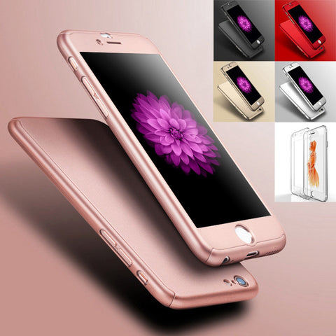 Ultra Slim Clear Front Film+Hard Back PC Cover Luxury Deluxe Full Protective Case 6/6S