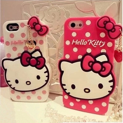 Lovely Cartoon Hello Kitty TPU Soft Rubber Cute Case Cover