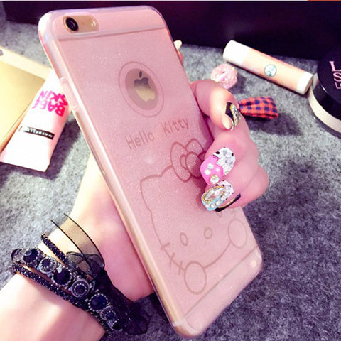 Hello Kitty Case Cartoon Bling Matte Soft Cute Case