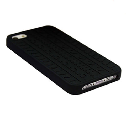 Rubber Tyre Silicone Black Soft Skin Cover Ultrathin Case for Apple iPhone 5 5S Free Shipping