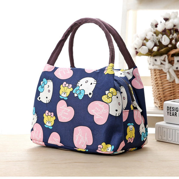 9b69de0e60e2 Leisure Cute Animal Hello Kitty Lunch Bag Girl Portable Insulated Cooler  Bags Thermal Food Picnic Bags