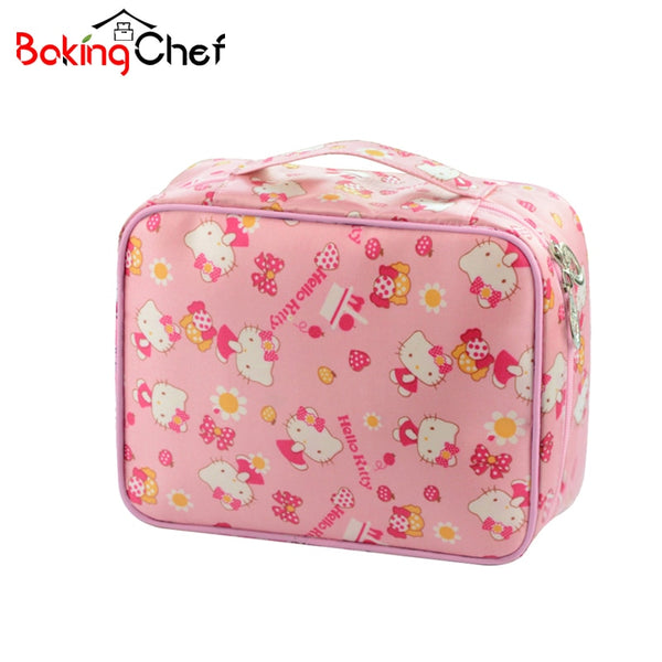 9ddf628d8fc9 Cute Hello Kitty Ladies Cosmetic Bags Waterproof Cases Women Beautiful  Makeup Toiletry Girls portable Travel Pouch