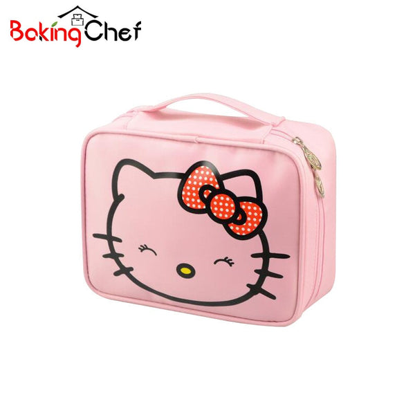 f724fca6bde0 Hello Kitty Cosmetic Bag Cute Waterproof Travel Makeup Organizer Case  Beautician Beauty Suitcase Accessories Supplies Products