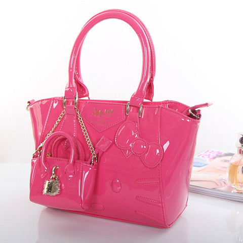 Hello Kitty PU Leather Handbag (various colors)