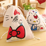 Convenient Hello Kitty Cosmetic Pouch small article storage Drawstring Bag Debris Storage Bag  Pouch Home Accessories Gift