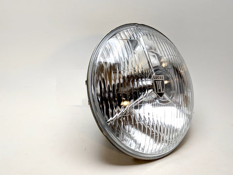 Lucas PL700 Reproduction Headlights - Tri Bar look with brighter H4 bulb! Sold as a pair