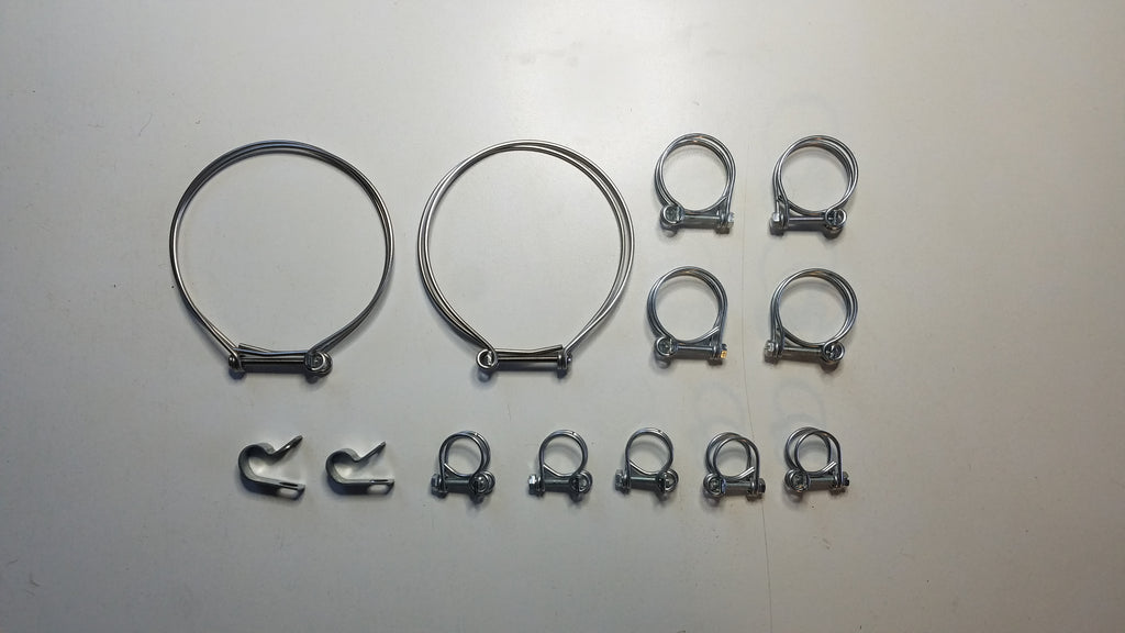Austin Healey Sprite Original issue hose clamp set  - Bugeye