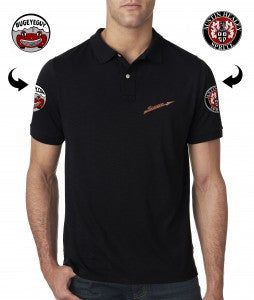 Austin Healey Sprite Bugeyeguy Team Polo Shirt, Athletic FIt Shirts - Bugeye