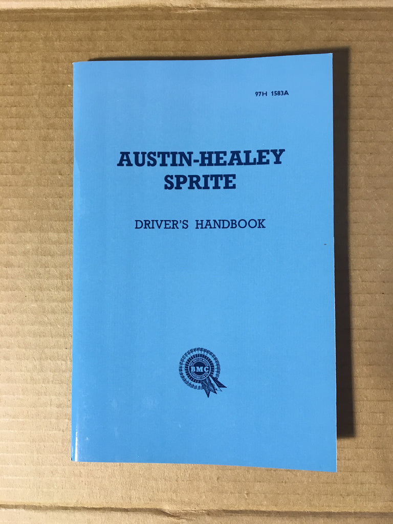Austin Healey Sprite Reproduction of Original Owners Manual Books - Bugeye
