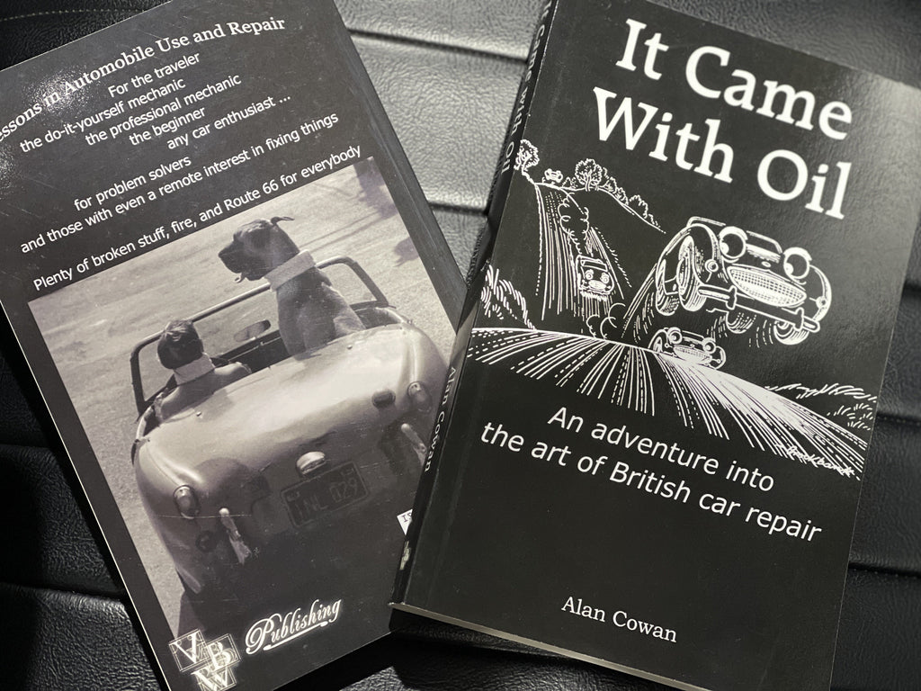 """It Came with Oil, An adventure into the art of British car repair,"" soft cover book"