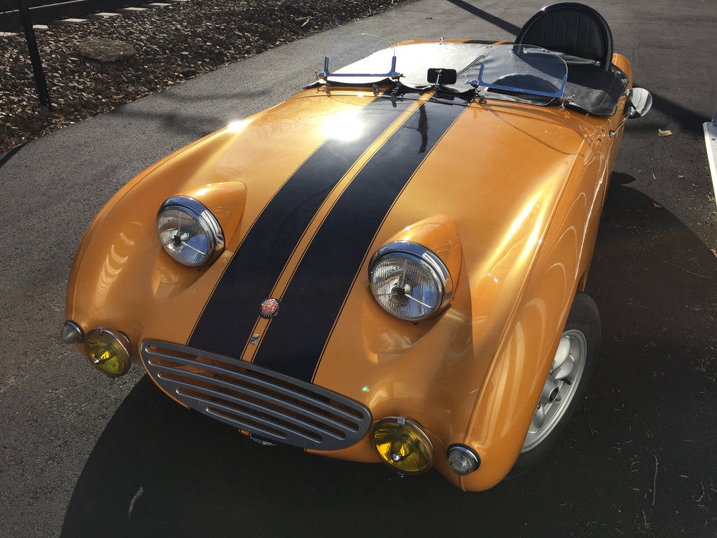 Austin Healey Sprite Brooklands Style Racing Windscreen Exterior - Bugeye