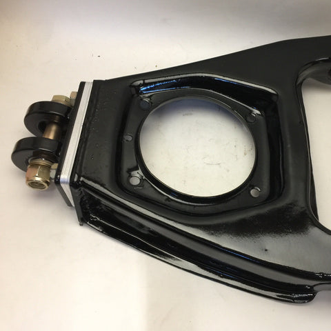 Camber adjustment is easy with our custom control arm/ A arm. (Sold individually)