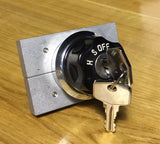 Austin Healey Sprite Modified, improved and ready-to-install ignition switch with locking guillotine Interior - Bugeye