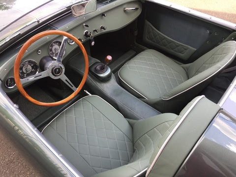 Austin Healey Sprite Deluxe Rubberized Bugeye Sprite Floor Coverings Carpet Alternative! COCKPIT ONLY Interior - Bugeye