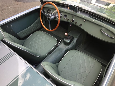 Austin Healey Sprite Deluxe Rubberized Bugeye Sprite Floor Coverings Carpet Alternative! Complete hardura set Interior - Bugeye