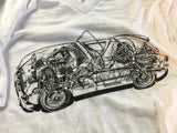Austin Healey Sprite Bugeye Sprite Cutaway T-shirt-ON SALE! Shirts - Bugeye