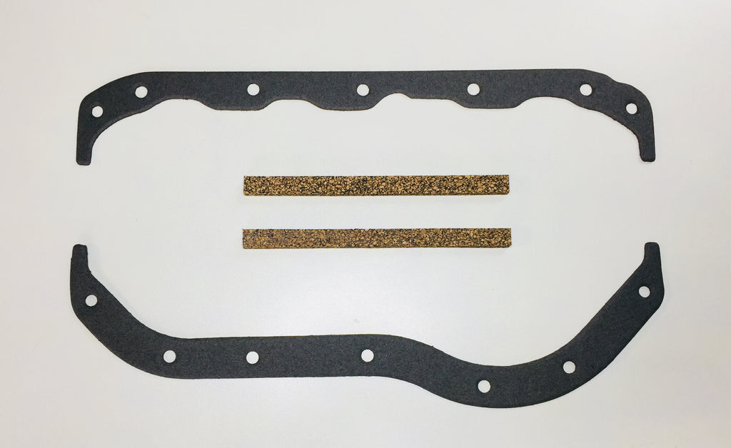 Austin Healey Sprite Oil pan sump gasket kit, 948, 1098, 1275, with cork end seals  - Bugeye