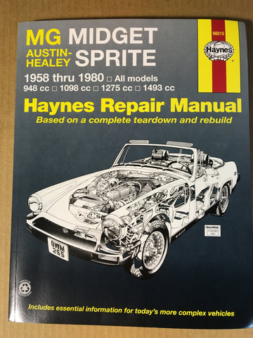 Austin Healey Sprite Haynes Shop Manual Books - Bugeye