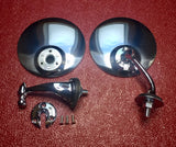 Side mirror set for windshield posts-no drilling required!